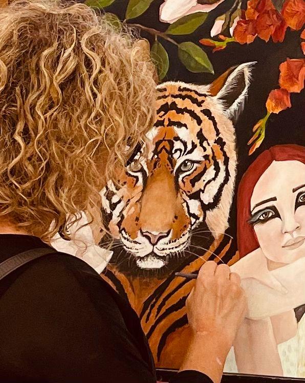 Hayley Hamilton painting